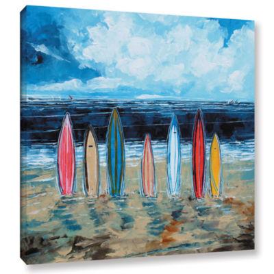 Brushstone Surf Boards Gallery Wrapped Canvas WallArt