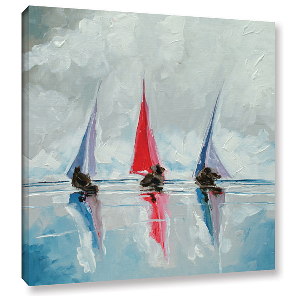 Brushstone Three Boats II Gallery Wrapped Canvas Wall Art