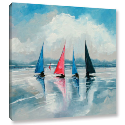 Brushstone Three Boats III Gallery Wrapped CanvasWall Art