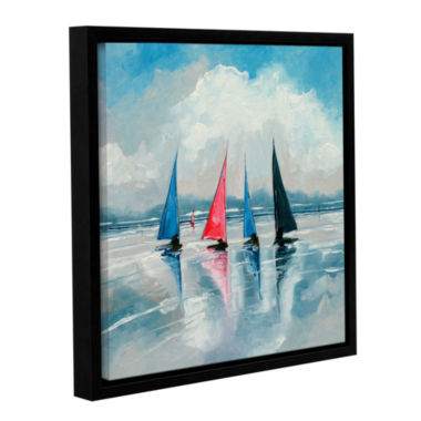 Brushstone Three Boats III Gallery Wrapped Floater-Framed Canvas Wall Art