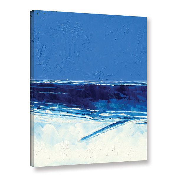 Brushstone Trees And Sea II Gallery Wrapped CanvasWall Art