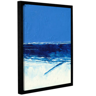 Brushstone Trees And Sea II Gallery Wrapped Floater-Framed Canvas Wall Art