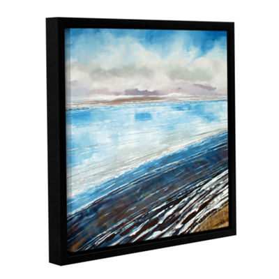 Brushstone Weybourne Winter Beach Gallery WrappedFloater-Framed Canvas Wall Art