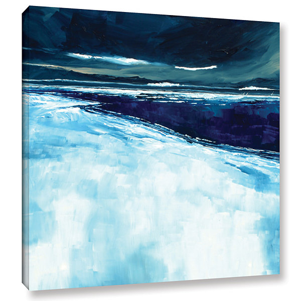 Brushstone Winter Beach Gallery Wrapped Canvas Wall Art