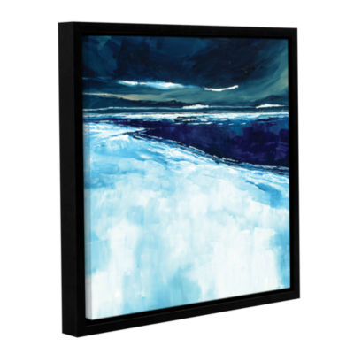 Brushstone Winter Beach Gallery Wrapped Floater-Framed Canvas Wall Art