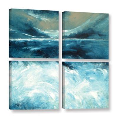 Brushstone Winter Norfolk Sea 4-pc. Square GalleryWrapped Canvas Wall Art