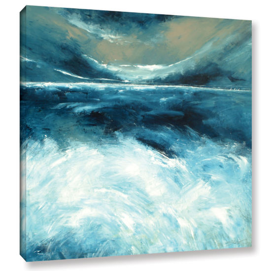 Brushstone Winter Norfolk Sea Gallery Wrapped Canvas Wall Art
