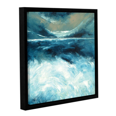 Brushstone Winter Norfolk Sea Gallery Wrapped Floater-Framed Canvas Wall Art