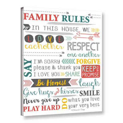 Brushstone Family Rules-Art Gallery Wrapped CanvasWall Art