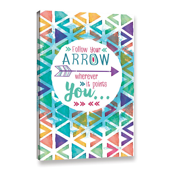 Brushstone Follow Your Arrow Gallery Wrapped Canvas Wall Art