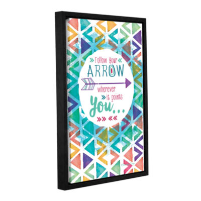 Brushstone Follow Your Arrow Gallery Wrapped Floater-Framed Canvas Wall Art