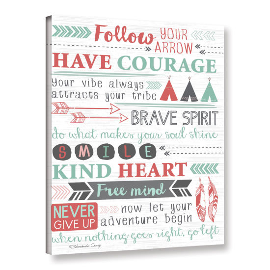 Brushstone Have Courage Collage Gallery Wrapped Canvas Wall Art