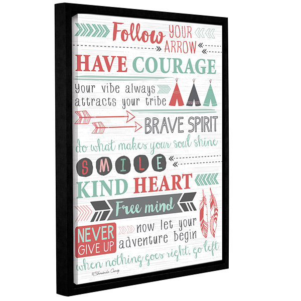 Brushstone Have Courage Collage Gallery Wrapped Floater-Framed Canvas Wall Art