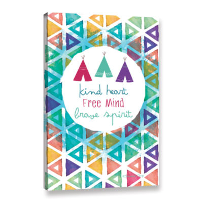 Brushstone Kind Heart Free And Brave Spirit Gallery Wrapped Canvas Wall Art