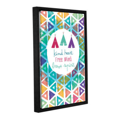 Brushstone Kind Heart Free And Brave Spirit Gallery Wrapped Floater-Framed Canvas Wall Art