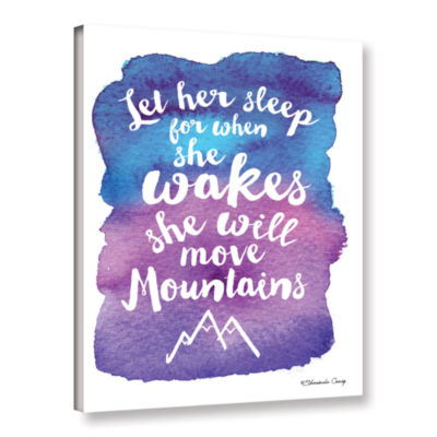 Brushstone Let Her Sleep Blue Purple Gallery Wrapped Canvas Wall Art