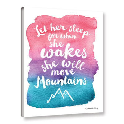 Brushstone Let Her Sleep Pink Purple Gallery Wrapped Canvas Wall Art
