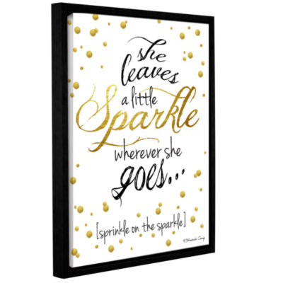 Brushstone She Leaves A Little Sparkle Gallery Wrapped Floater-Framed Canvas Wall Art