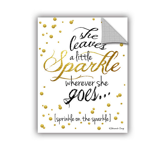 Brushstone She Leaves A Little Sparkle Removable Wall Decal