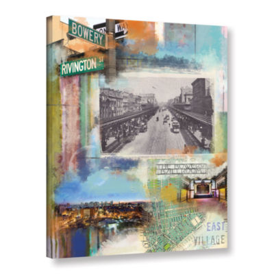 Brushstone Bowery Collage Gallery Wrapped Canvas Wall Art