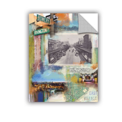 Brushstone Bowery Collage Removable Wall Decal