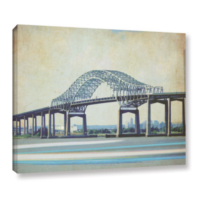Brushstone Casciano Bridge Gallery Wrapped CanvasWall Art