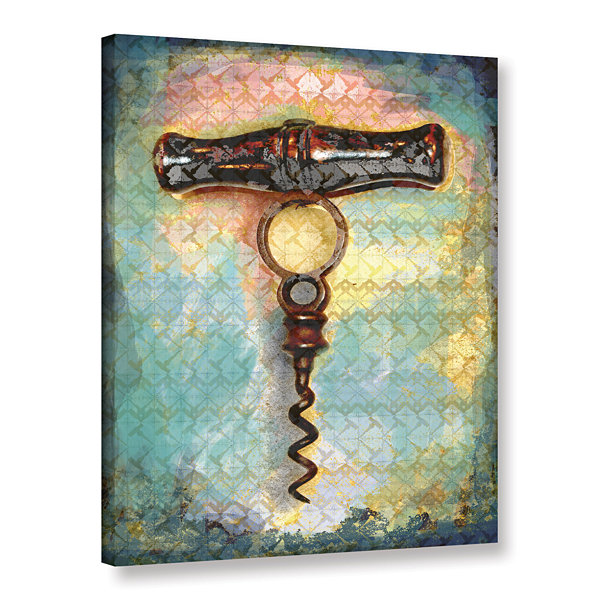 Brushstone Corkscrew Gallery Wrapped Canvas Wall Art