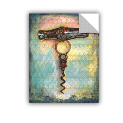 Brushstone Corkscrew Removable Wall Decal