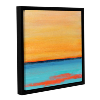 Brushstone Ionian Sea Gallery Wrapped Floater-Framed Canvas