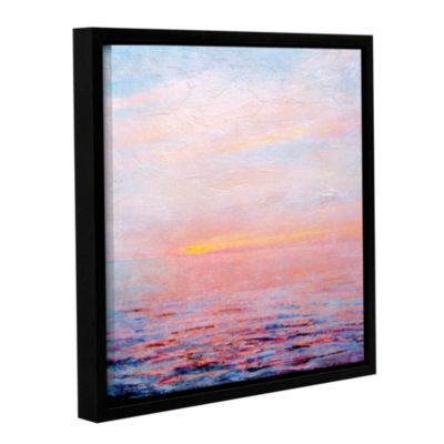 Brushstone Landscape Study I Gallery Wrapped Floater-Framed Canvas