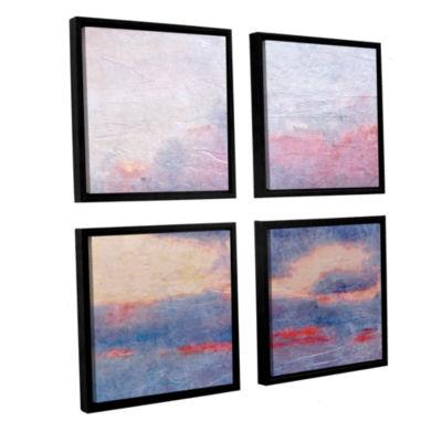Brushstone Landscape Study II 4-pc. Floater FramedCanvas Sqare Set