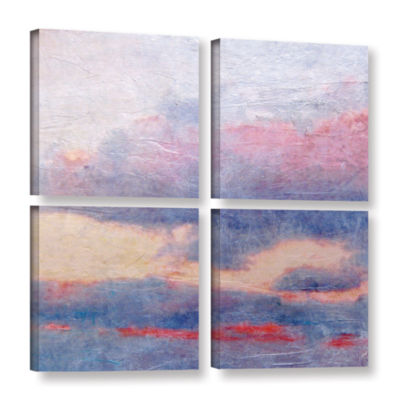 Brushstone Landscape Study II 4-pc. Gallery Wrapped Canvas Square Set