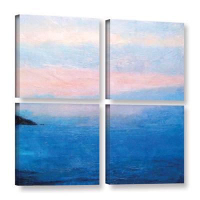 Brushstone Landscape Study IV 4-pc. Gallery Wrapped Canvas Square Set