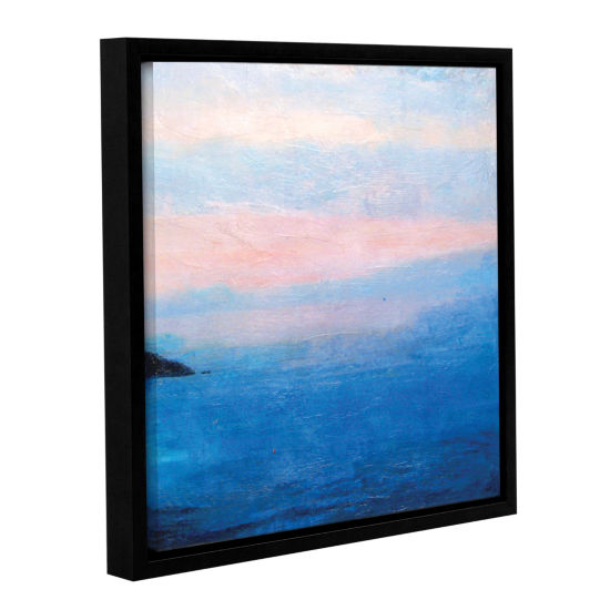 Brushstone Landscape Study IV Gallery Wrapped Floater-Framed Canvas