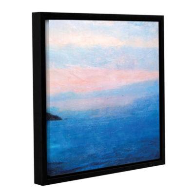 Brushstone Landscape Study IV Gallery Wrapped Floater-Framed Canvas