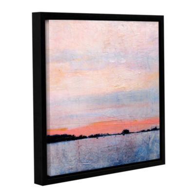 Brushstone Landscape Study VIII Gallery Wrapped Floater-Framed Canvas