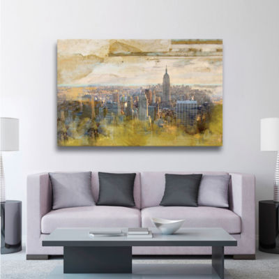 Brushstone NYC Echelle Gallery Wrapped Floater-Framed Canvas Wall Art