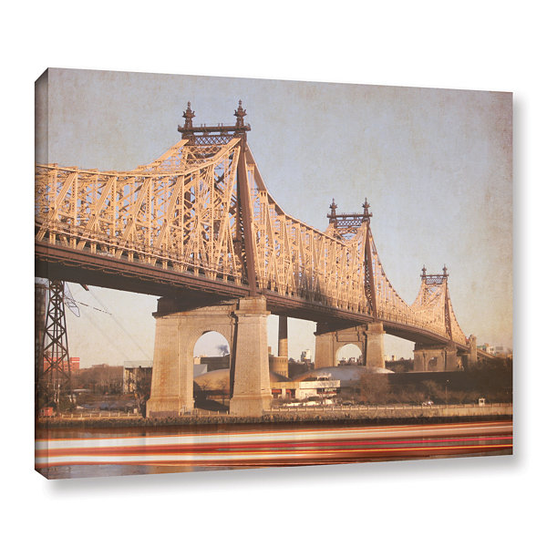 Brushstone Queens Borough Bridge Gallery Wrapped Canvas Wall Art