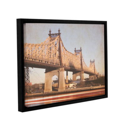 Brushstone Queens Borough Bridge Gallery Wrapped Floater-Framed Canvas Wall Art