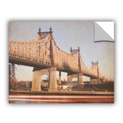 Brushstone Queens Borough Bridge Removable Wall Decal
