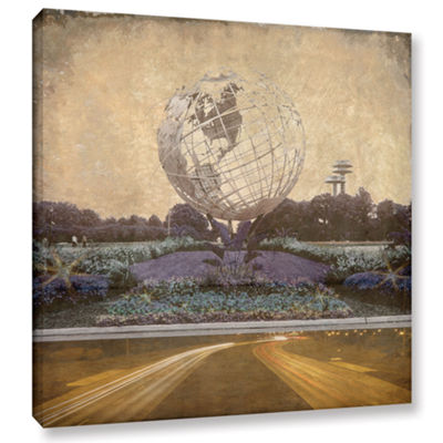 Brushstone Unisphere Parkway Gallery Wrapped Canvas Wall Art