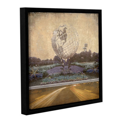 Brushstone Unisphere Parkway Gallery Wrapped Floater-Framed Canvas Wall Art