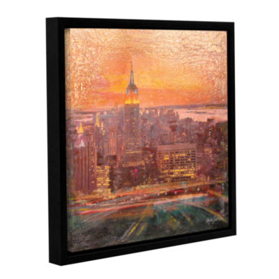 Brushstone Uptown Manhattan Gallery Wrapped Floater-Framed Canvas Wall Art