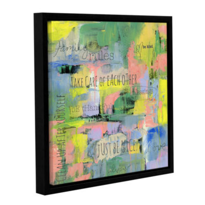 Brushstone Abstract Family Rules Gallery Wrapped Floater-Framed Canvas Wall Art