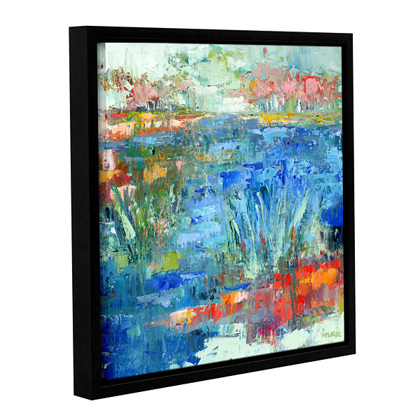 Brushstone Blue Marsh Gallery Wrapped Floater-Framed Canvas Wall Art