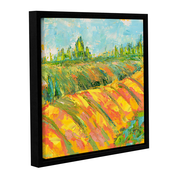 Brushstone Cheerful Wine Country Gallery Wrapped Floater-Framed Canvas Wall Art