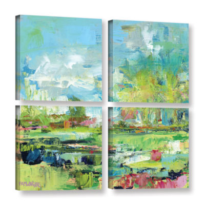 Brushstone Summer Coast 4-pc. Square Gallery Wrapped Canvas Wall Art