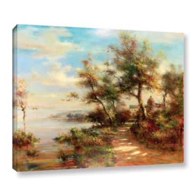 Brushstone Afternoon Walk Gallery Wrapped Canvas Wall Art