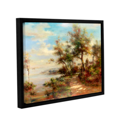 Brushstone Afternoon Walk Gallery Wrapped Floater-Framed Canvas Wall Art