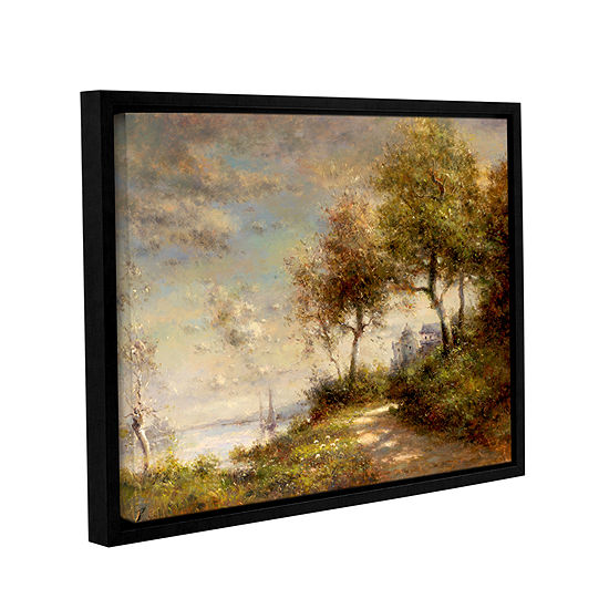 Brushstone Country Roads Gallery Wrapped Floater-Framed Canvas Wall ...